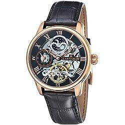 Thomas Earnshaw Men's Longitude Automatic Watch with Black DialAnalogue DisplayandBlack Leather Strap ES-8006-07