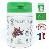 Ginseng Rouge bio | 60 gélules | Complément alimentaire | Energie - Booster | Bioptimal - nutrition naturelle | Fabriqué en France