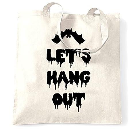 Faisons main Bat drôle Pun Cool Joke Halloween Spooky Slogan Sac à Main