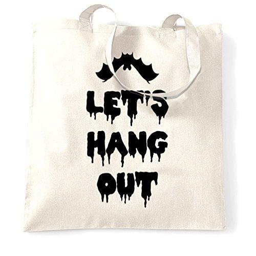 en aus Bitten lustiges Wortspiel Kühlen Witz Halloween Spuk Slogan Tragetasche (Lustige Halloween-wortspiele)