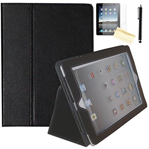 Air 2Hülle-jytrend (R) Folio Ständer magnetisch Smart Cover für Apple iPad Air (2013Version)/Air 2(2014Version) mit Auto Wake/Sleep, Schwarz ()