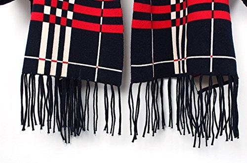 Mme Automne Et Manteau D'hiver Cachemire écharpe Black