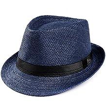 Amlaiworld_Gorras Gorras de Hombre Mujer Unisex Trilby Gangster Mujer Hombre Sombrero de Paja de Sol de