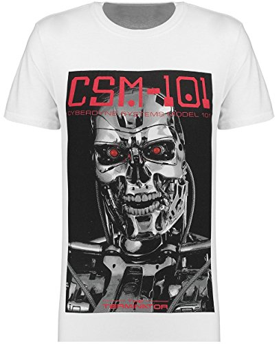 Men's White Terminator CSM 101 Cotton T-shirt