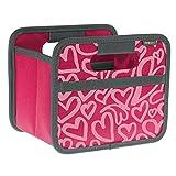 Faltbox Mini Berry Pink / Herz 16,5x12,5x14cm stabil, abwischbar Polyester Geschenkbox Schmuck Schublade Schlafzimmer zusammenfaltbar Qualität