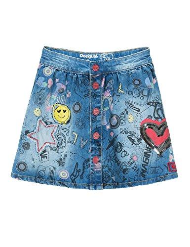 Desigual Mädchen Rock Fal_Aiguafreda, Blau (Jeans 5006), 128 (Herstellergröße: 7/8)
