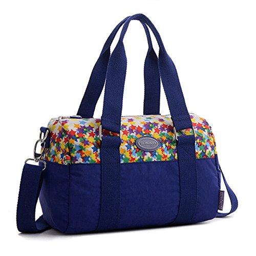 Tiny-Cute wasserabweisend Nylon Handtasche Cross Body Reise Schultertasche für Teen Mädchen & Frauen Stars