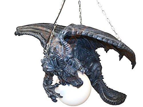 Große Drachenlampe - Deckenlampe Drache Gothic Fantasy (Trägt Glas Figur)