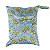 Baby Wasserdicht Reißverschluss Wiederverwendbar Tuch Windel Tasche Druckknopf Tote Frosch Muster