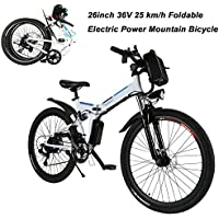 AIMADO Bicicletas Electricas de Montaña Plegables, E-bike MTB 250W 25 km/h