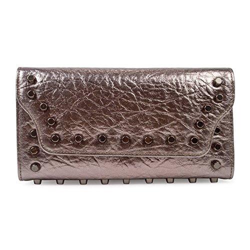 b0d7c560c4 BAIGIO Pochette in Vera Pelle Morbida da Donna Borsetta da Sera Portafoglio  Lungo Elegante Porta Monete