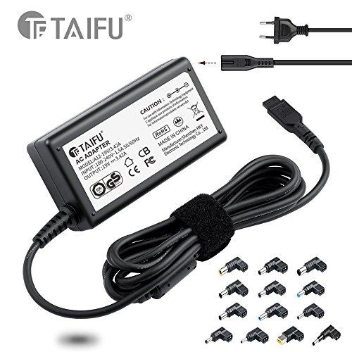 TAIFU universal 65W del ordenador portátil cargador de la fuente de alimentación Adaptador de conector con 14 consejos para Acer, Asus, HP, Compaq, Dell, IBM / Lenovo, Toshiba, Samsung, Portátiles Ultrabooks, 15V 16V 18,5V 19V 19,5V 20V energía de alimentación para Asus X551C, X551M, X53S, A52F, X54C, Lenovo T500 T530, Lenovo Think Pad X220 T410 T420 G710, Lenovo Yoga 11 11S 13, Essential G500 G500s G505, Flex 10 14 15 14D 15D, Acer aspire E1 5920 5755G 5741G Cargador de enchufe de la EU