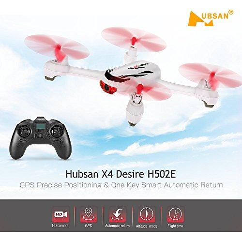 Goolsky Hubsan X4 Wunsch H502E 720P Kamera GPS RTF RC Quadrocopter Drohne mit Höhenmodus zurück zur Home Funktion - 8