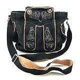 Trachtentasche Dirndltasche Lederhosen-Tasche Umhängetasche Leder Schwarz