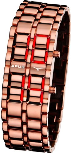 APUS Zeta Gold Red AS-ZT-CR Reloj LED para hombres Momento Estelar de Diseño