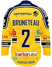 Camiseta personalizada Lausitzer Füchse Weisswasser Official Fan Shirt #2 Bruneteau AWAY (V.I.P. Pictures World by CRISTALICA)