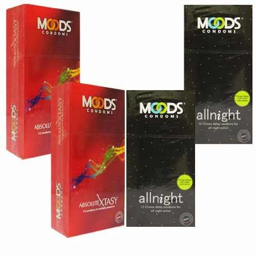 Moods Climax Delay Xtacy and All Night Condoms