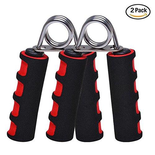 2 unidades Juego de mano Grip Fortalecedor, mano pinza de agarre del dedo - suave espuma ejercitador de los dedos para fijar muñeca más temprano y dedo fuerza(Rojo)