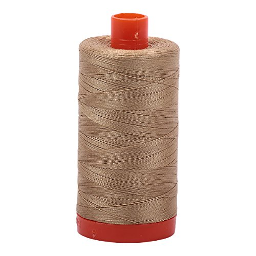 Aurifil A1050-5010 Solid 50wt 1422yds Blond Beige Mako Cotton Thread -