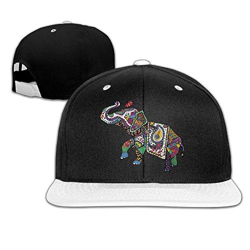 Pillowcase Wholesale Colorful India Treasure Elephant Hip-Hop Cotton Hats  Sports Snapback White 8402185c9e04
