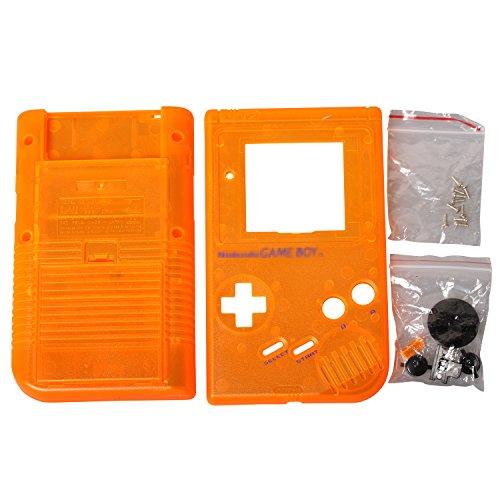 Timorn Ersatzgehäuse Shell Tasche für Gameboy GB Konsole (1 Drau+1 Transparent Orange+1 Schwarz+1 Rot+1 Gelb +1 Transparent) (Kontakt Papier Boy)