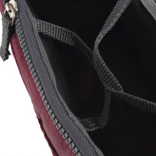 Feikai Erweiterbare Dual-Handtaschen Einsatz Große Geldbeutel Verfassungs-Organisator-Beutel Aufgeräumt Ordentlich kosmetische Speicher-Kulturreisetasche mit Griffen für Draussen Sportreisen Rotwein