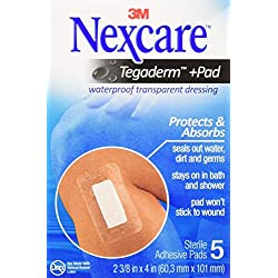(6.1cm X 10cm 5 each) - Nexcare Nexcare Absolute Waterproof Adhesive Dressing With Pad 6.1cm X 10cm , 6.1cm X 10cm 5 each