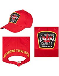 Casquette Dsquared Baseball Cap Rosso Cit of Wood Canada **B-Quality** Factory Seconds, Rejects or Mill Graded Irregulars*