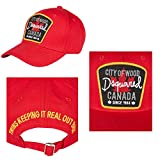 Berretto Dsquared Baseball Cap Rosso Cit of Wood Canada **B-Ware** Factory Seconds, Rejects or Mill Graded Irregulars* - Dsquared2 - amazon.it