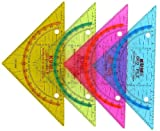 Geodreieck Geo File 261 Gelocht Zum Abheften 16cm Transparent Sortiert - Liefermenge 15 Stück