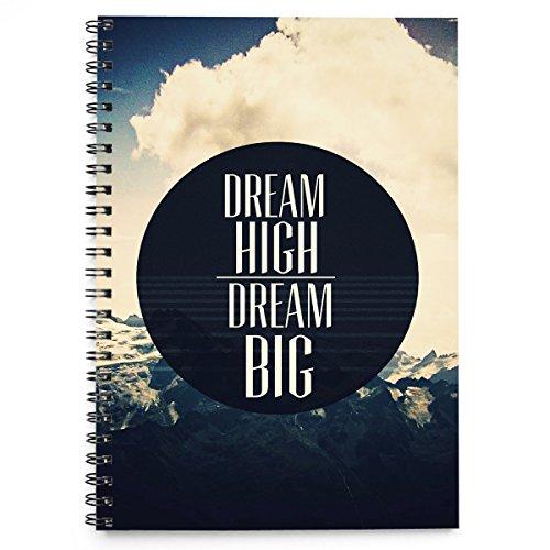 Dream high dream big cover spiralbindung notizbuch 100 blatt (A4)