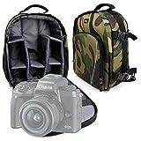 Duragadget Sac à Dos Motifs Camouflage pour Canon EOS M5 / EOS 5D Mark IV, Hasselblad X1D, Leica Sofort, Olympus E-M1 II & E-PL8 appareils Photos et Leurs Accessoires
