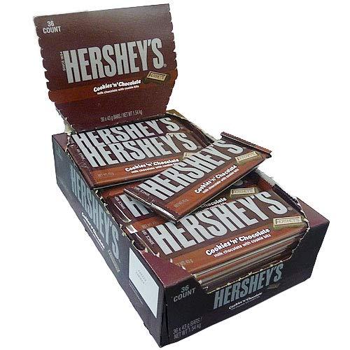 HERSHEY'S® Chocolate Bar - COOKIES N' CHOCOLATE (43 g) [36er Karton] (Bar Chocolate Hershey)