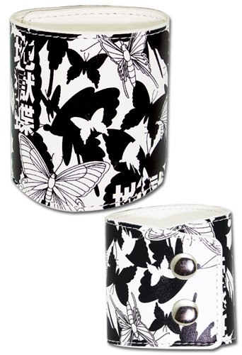 Bleach Butterfly Leather Wristband