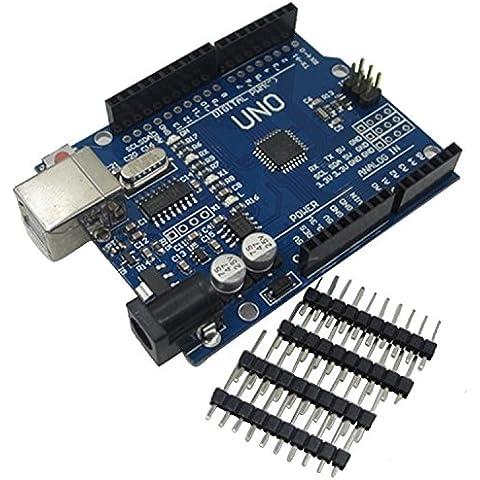 UNO R3 tablero con jefe del Pin para Arduino