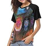 Photo de JEWold King Crimson šC in The Wake of Poseidon Women's Baseball Short Sleeves Black Raglan T-Shirts Tee T Shirts for Women Tshirts Femme par JEWold
