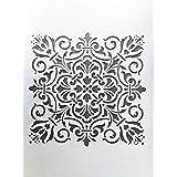 Woolley Art & Craft Plastic Wall Decoration Stencil(24x16-inch) - White