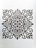 #8: Woolley Wall Stencil, Wall decoration stencil with attractive design in size 24x16 inch