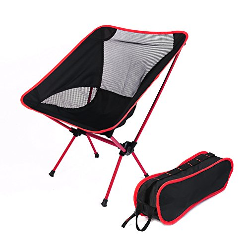 51OUwXhVjJL BEST BUY #1Outdoor Camping Folding Chair by TimeCollect Light Weight Heavy Duty Portable With Carry Bag, Great for Sporting, Fishing, Backpacking (Red) price Reviews