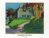 Münter, Gabriele - Sommer 1908 (Haus mit Apfelbau - Kunstdruck Artprint Gemälde - Grösse 90x70 cm