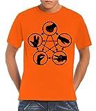 Touchlines T - Camiseta para hombre, tamaño M, color naranja