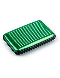 TOOGOO(R)Business Id Credit Card Holder Wallet Aluminum Metal Case Box-Light Green