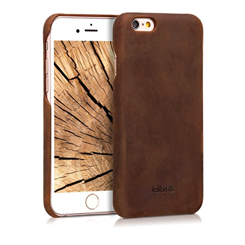 kalibri-Echtleder-Backcover-Hlle-fr-Apple-iPhone-66S-Leder-Case-Cover-Schutzhlle-in-Braun