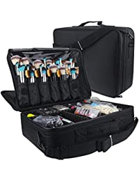 Travelmall Cosmético Organizador-Profesional Maquillaje Case-Travel Maquillaje Herramientas Contenedor (Negro…