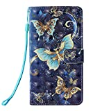 Phcases 3D Colorful Painting Phone Case for Samsung Galaxy S10 Lite Premium PU Leather Wallet Bumper Cover with Card Slots, Kickstand Feature, Magnetic Closure-Butterfly.