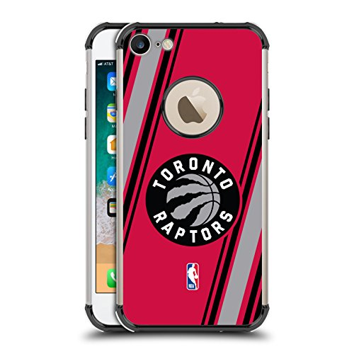 Ufficiale NBA Righe Toronto Raptors Nero Una Barriera A Prova di Urto Case per iPhone 7 / iPhone 8