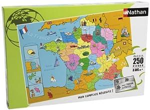 Nathan 86933- Puzzle Infantil del Mapa de Francia (250 Piezas)