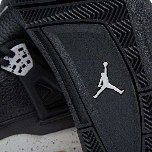 Nike Air Jordan 4 Retro LS, Espadrilles de Basket-Ball Homme Noir / Gris (Noir / Tech Gris-Noir)