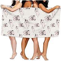544456ffde Cartoon Pug Beach Towels Ultra Absorbent Microfiber Bath Towel Picnic Mat For Men Women Kids