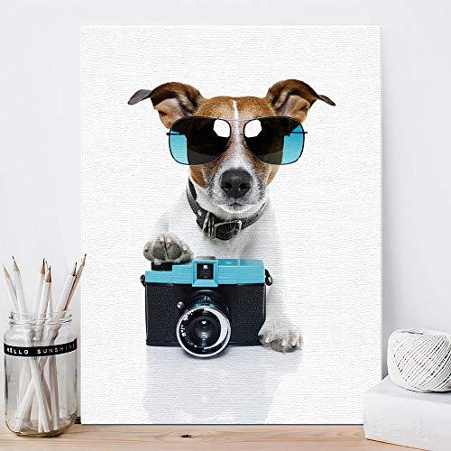 Amphia - Indoor Mode Haustier Hund Malerei.Hund Moderne Zitate Wandtattoos Foto Malerei gerahmt Pop-Art Posterr